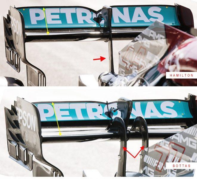 メルセデスW12のリヤウイング