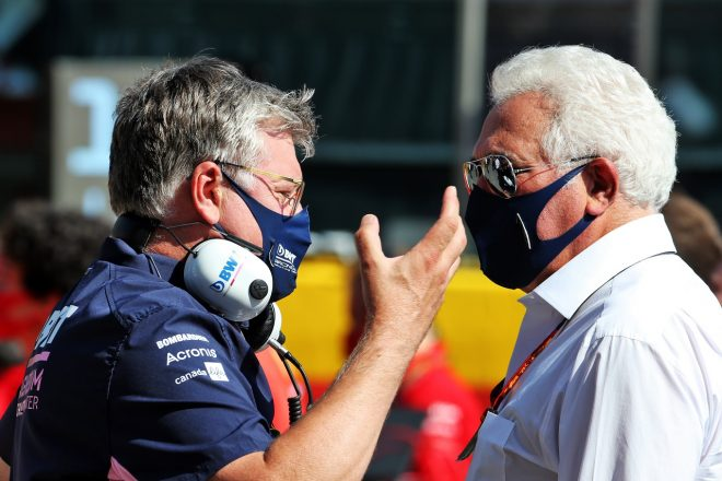 2020年レーシングポイント時代のオットマー・サフナウアー代表とオーナーのローレンス・ストロール