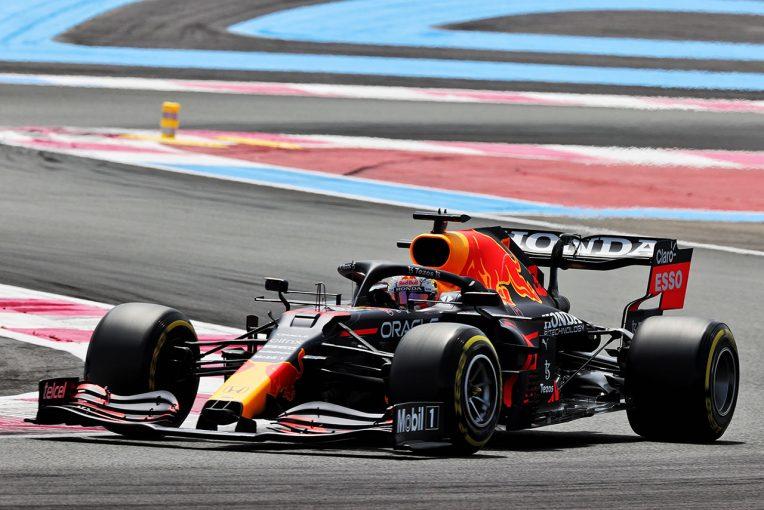 F1   フランスGP FP2:フェルスタッペンが初日最速。メルセデス勢が2、3番手、アロンソが4番手に続く