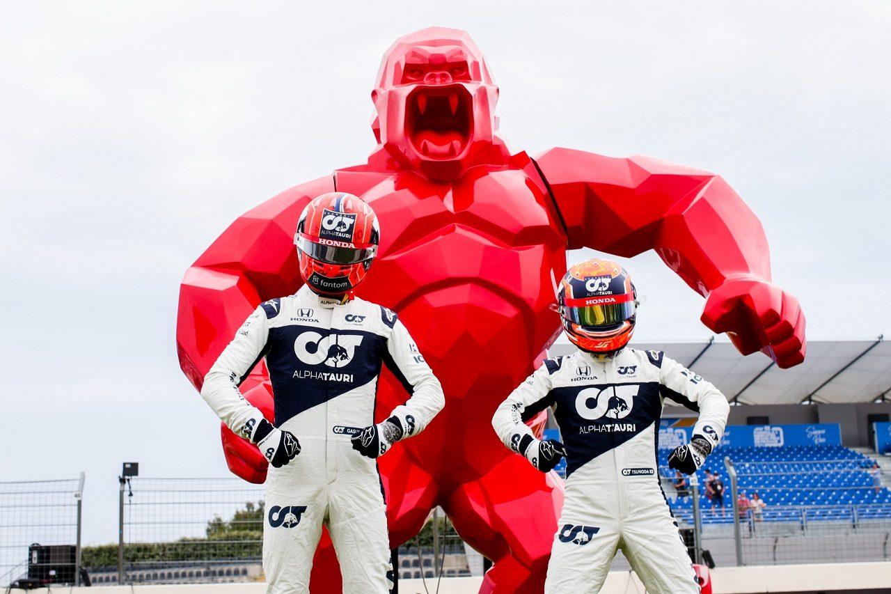 角田裕毅とピエール・ガスリー(アルファタウリ・ホンダ)