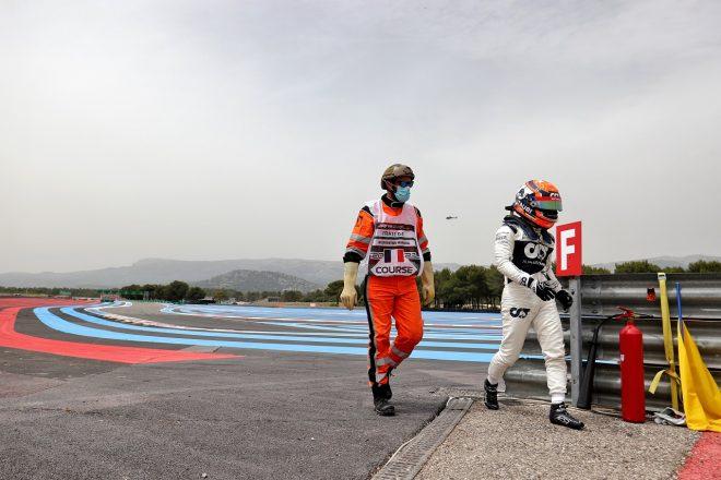 2021年F1第7戦フランスGP 角田裕毅(アルファタウリ・ホンダ)が予選Q1でクラッシュ