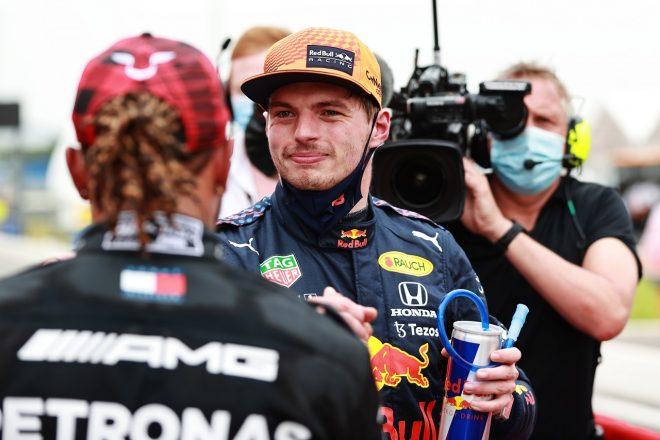 2021年F1第7戦フランスGP ポールのマックス・フェルスタッペン(レッドブル・ホンダ)と予選2番手のルイス・ハミルトン(メルセデス)