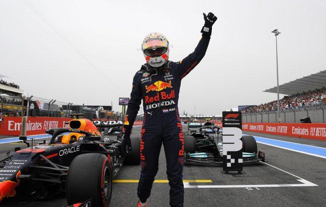 2021年F1第7戦フランスGP ポールのマックス・フェルスタッペン(レッドブル・ホンダ)