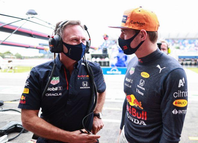 2021年F1第7戦フランスGP マックス・フェルスタッペン(レッドブル・ホンダ)とチーム代表クリスチャン・ホーナー