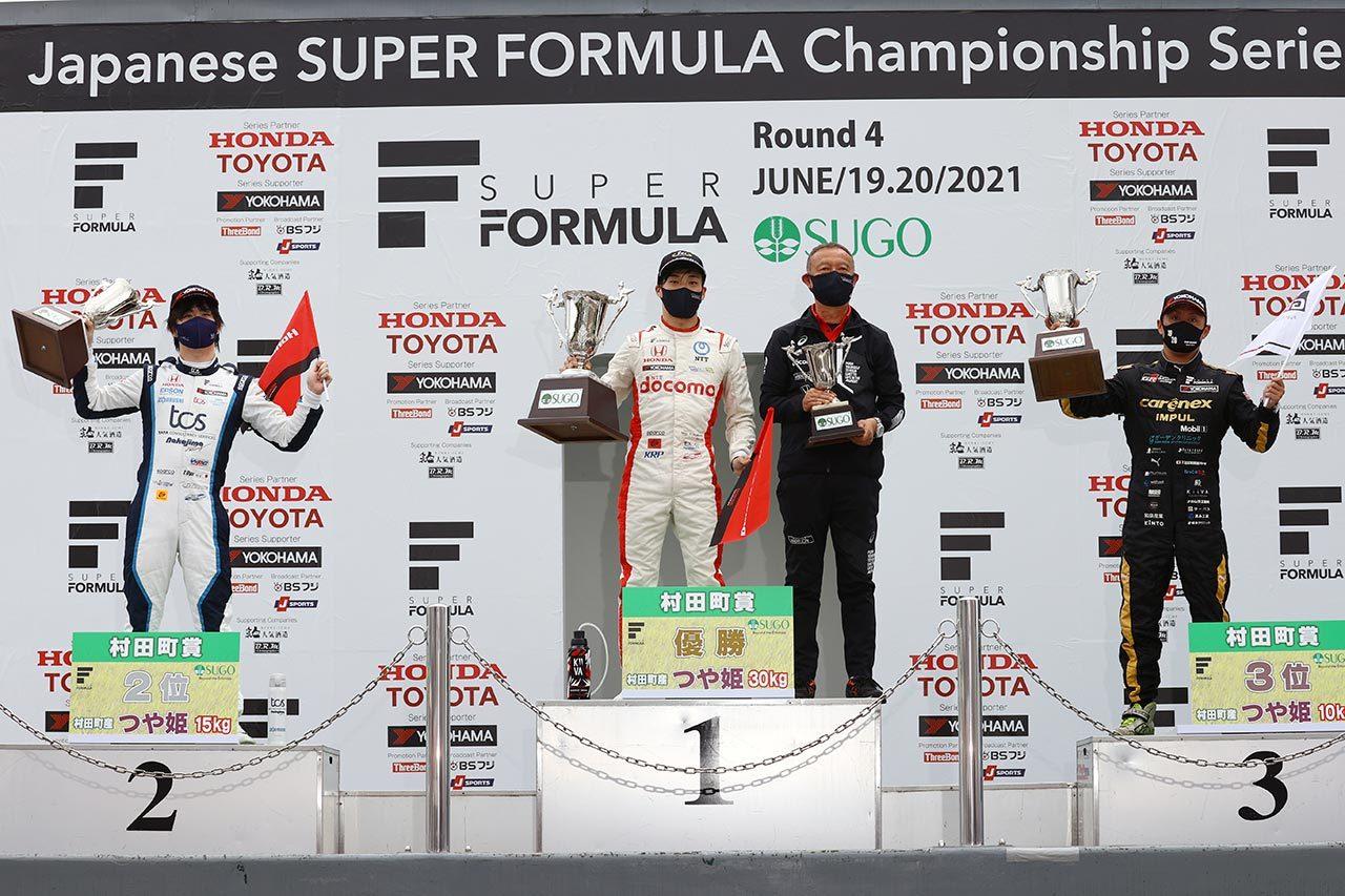 2021年スーパーフォーミュラ第4戦SUGO 表彰式