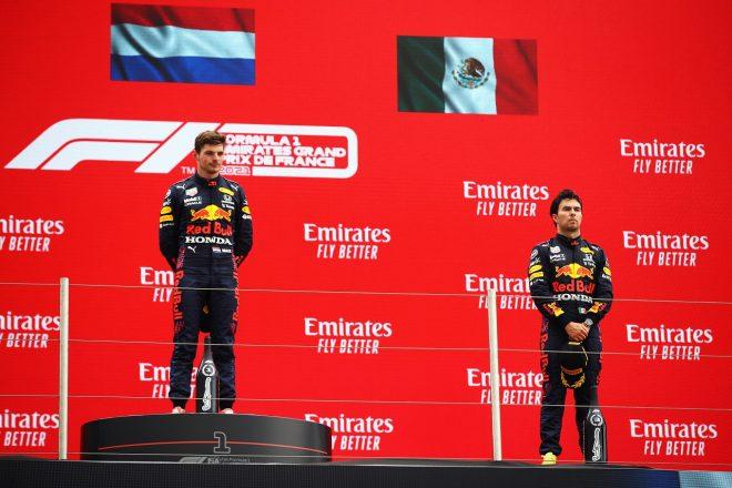 2021年F1第7戦フランスGP マックス・フェルスタッペン(レッドブル・ホンダ)が優勝、セルジオ・ペレス(レッドブル・ホンダ)が3位