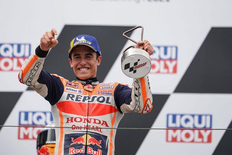 MotoGP | 復帰後初優勝を飾ったM.マルケス「ミック・ドゥーハンとの30分の会話が手助けになった」/MotoGP第8戦決勝トップ3コメント