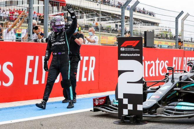 2021年F1第7戦フランスGP 2位のルイス・ハミルトン(メルセデス)
