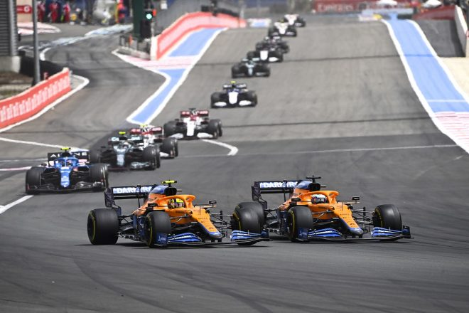 2021年F1第7戦フランスGP ダニエル・リカルドとランド・ノリス(マクラーレン)