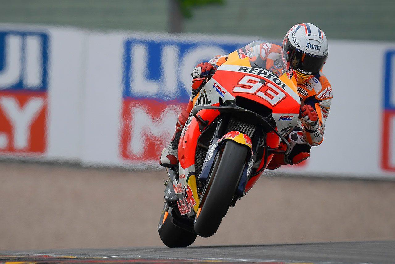 M.マルケス、得意の左回りザクセンリンクで11連勝達成「最も重要で最も大変な瞬間だった」/MotoGP第8戦ドイツGP