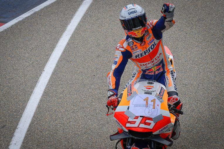 MotoGP   M.マルケス、得意の左回りザクセンリンクで11連勝達成「最も重要で最も大変な瞬間だった」/MotoGP第8戦ドイツGP