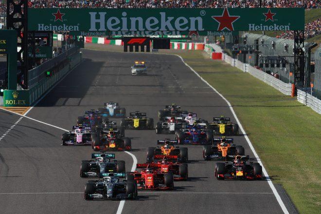 2019年F1第17戦日本GP スタートシーン