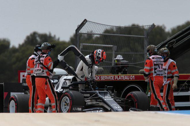 F1   F1 Topic:ブレーキングで後れを取っていた角田。Q1で修正を試みるも「1周目にやるべきではなかった」