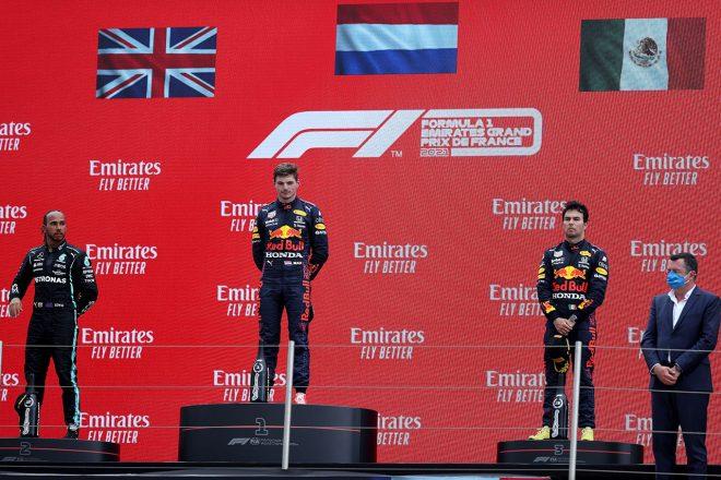 2021年F1第7戦フランスGP表彰式