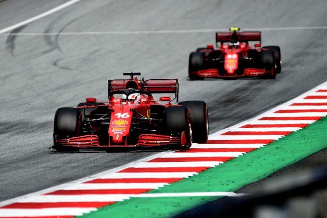 2021年F1第8戦シュタイアーマルクGP シャルル・ルクレールとカルロス・サインツJr.(フェラーリ)
