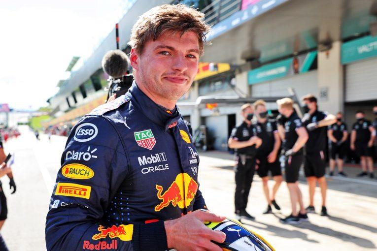 F1 | フェルスタッペンが唯一1分3秒台でポール「エンジニアの言葉で奮起したことが、あのラップにつながった」/F1第8戦