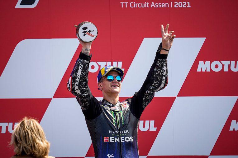 MotoGP   4勝目を挙げ、ポイントリーダーで前半戦折り返しのクアルタラロ「今は考え方も目標も明確」/MotoGP第9戦決勝