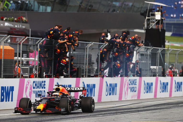 F1   優勝を祝うフェルスタッペンのバーンアウトにFIAが警告「今後は容認されない」/F1第8戦