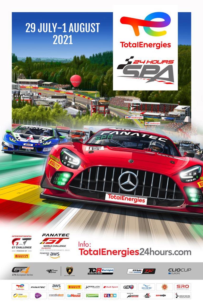 スパ24時間、2021年は観客を動員して開催。300 SELの50周年記念カラーのAMGがポスターに