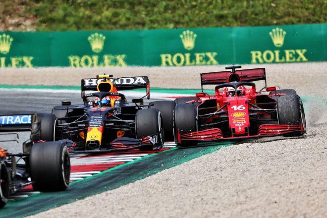 セルジオ・ペレス(レッドブル・ホンダ)&シャルル・ルクレール(フェラーリ)