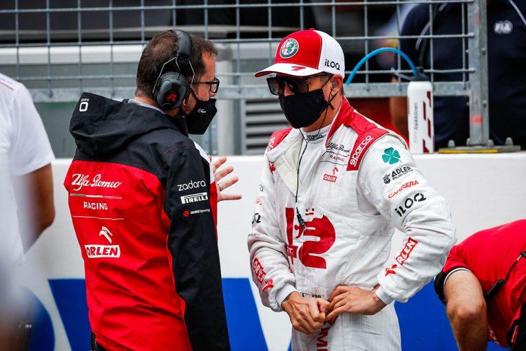 F1   ライコネン「クルマは悪くないが、トップ10に入るには少し足りない」:アルファロメオ F1第9戦決勝