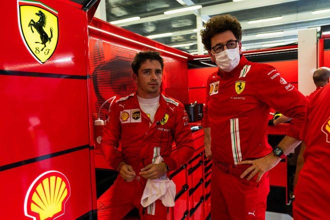 シャルル・ルクレール(フェラーリ)&マッティア・ビノット(フェラーリ チーム代表)