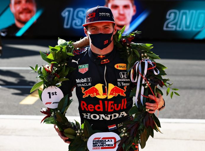 F1 | 抜群のスタートでスプリント予選を制したフェルスタッペン「ブレーキから火が出始めて本当に心配した」F1第10戦