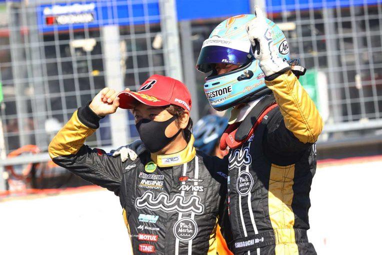 スーパーGT | 「勝てるときというのは、そういうもの」作戦大成功のmuta Racing Lotus MCの戦略と2位、3位の事情【GT300決勝あと読み】