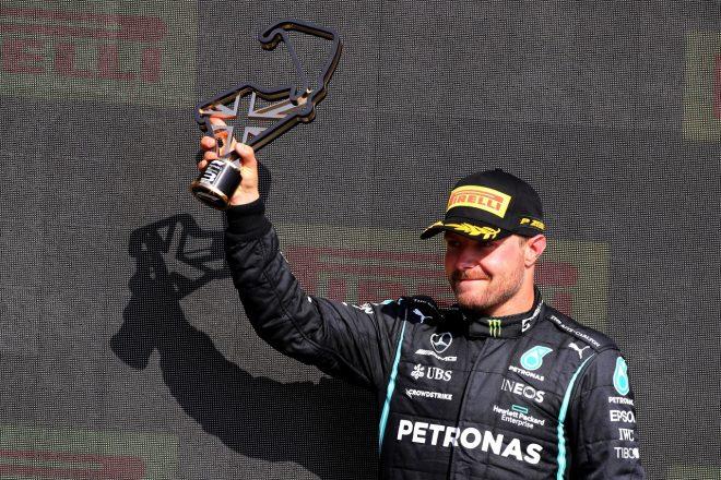 2021年F1第10戦イギリスGP バルテリ・ボッタス(メルセデス)が3位