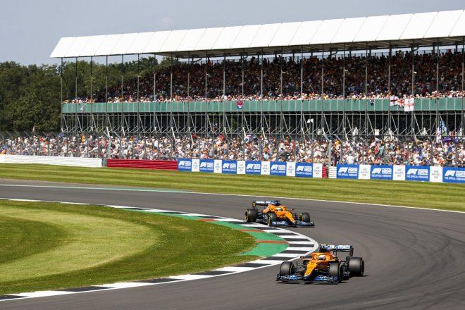 2021年F1第10戦イギリスGP ランド・ノリスとダニエル・リカルド(マクラーレン)