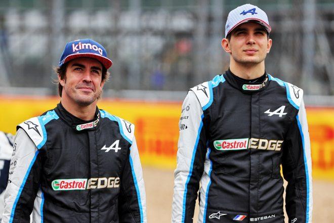 2021年F1第10戦イギリスGP フェルナンド・アロンソとエステバン・オコン(アルピーヌ)