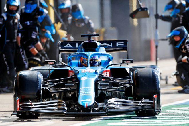 2021年F1第10戦イギリスGP フェルナンド・アロンソ(アルピーヌ)
