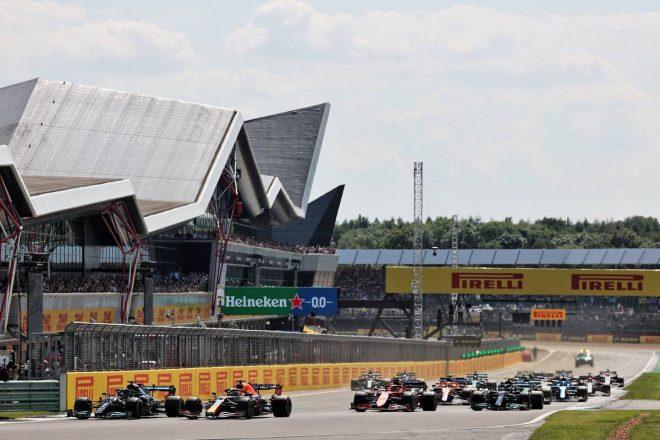 2021年F1第10戦イギリスGP スタートシーン