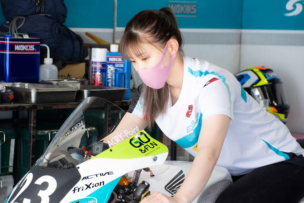 桐石瑠加(P.MU 7C GALE SPEED ChallengeFox)/全日本ロード第5戦MFJ-GP鈴鹿