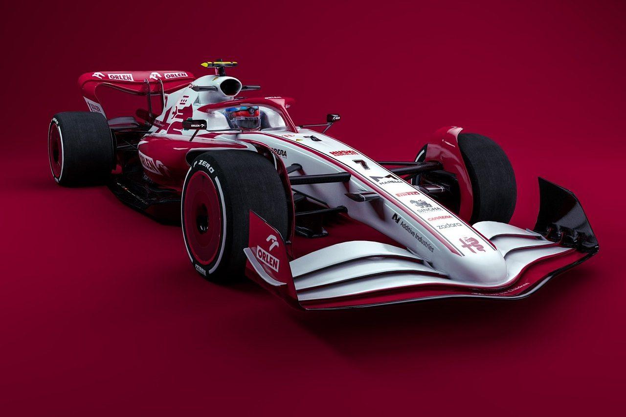 2022年型アルファロメオF1のイメージ
