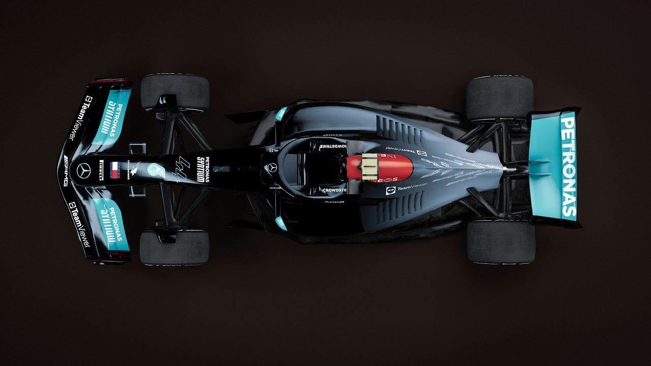 2022年型メルセデスF1マシンのイメージ