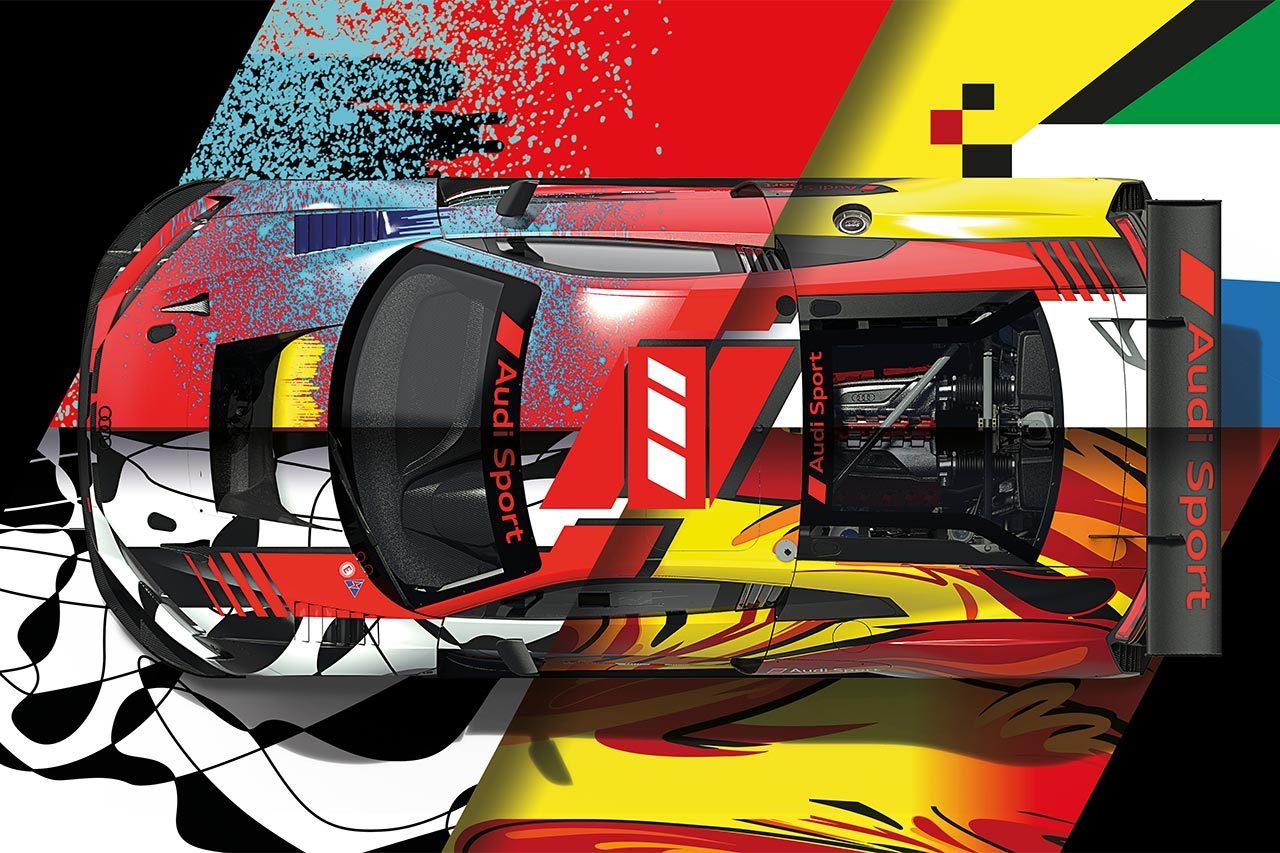 アウディ、スパ24時間でサーキット100周年を記念したアートカラーを4台に施す