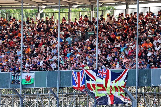 2021年F1第10戦イギリスGP 大観衆が詰めかけたグランドスタンド