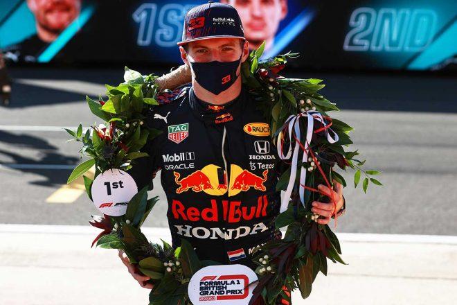 2021年F1第10戦イギリスGP スプリント予選では1位フィニッシュを飾ったマックス・フェルスタッペン(レッドブル・ホンダ)