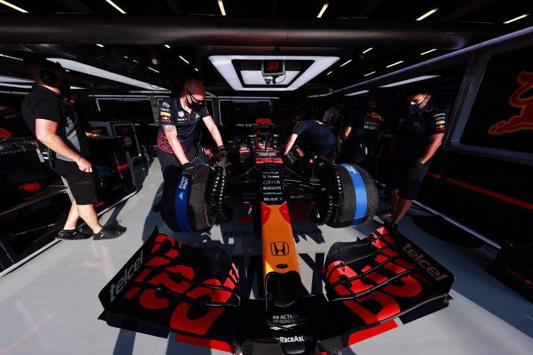 F1 | クラッシュしたフェルスタッペンのPUは使用可能か。レッドブル・ホンダF1、最終判断のためフリー走行でテストへ