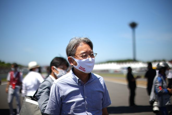 スーパーGT第4戦ツインリンクもてぎに訪れた三部敏宏社長