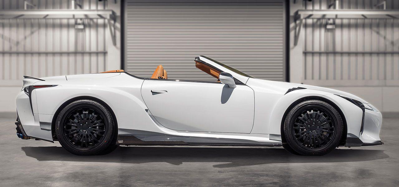 トムス、レーシングテクノロジーを注いだコンプリートカー『TOM'S LEXUS LC500 Convertible』を発表