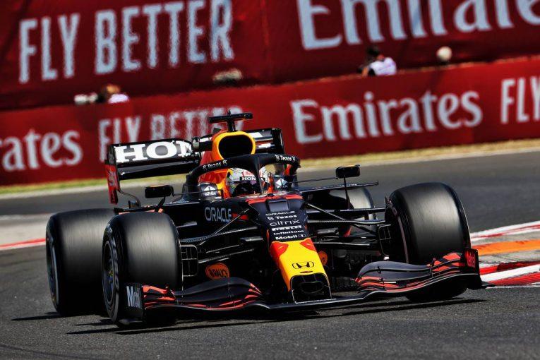 F1 | ハンガリーGP FP1:レッドブル・ホンダのフェルスタッペンが首位発進。角田裕毅はクラッシュ