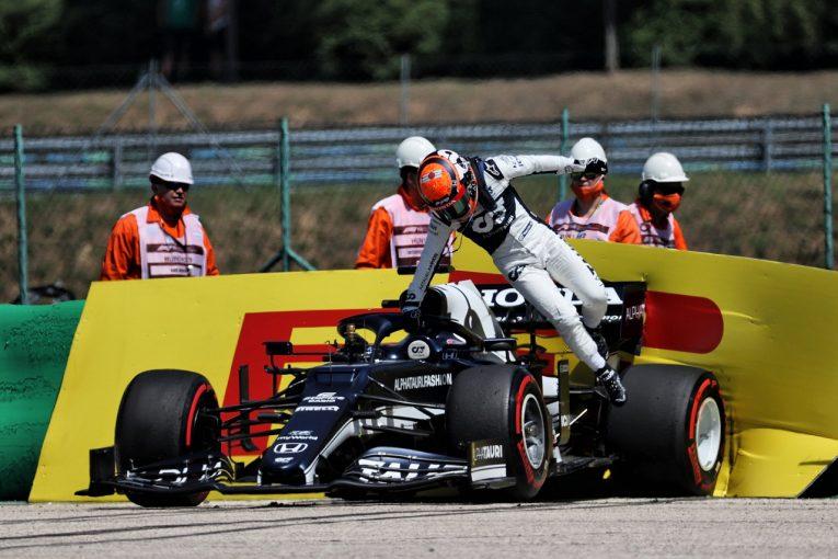 F1 | 角田裕毅、クラッシュでギヤボックスにダメージ「ガスリーに追いつこうとしていた」F1第11戦金曜