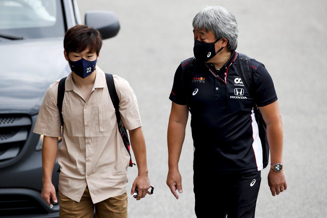 角田裕毅(アルファタウリ・ホンダ)とホンダF1の山本雅史マネージングディレクター