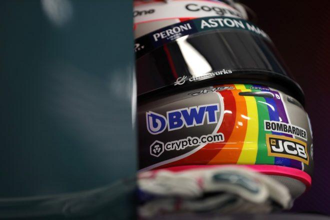 2021年F1第11戦ハンガリーGP セバスチャン・ベッテル(アストンマーティン)のヘルメット