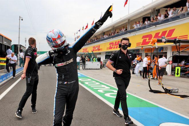 2021年F1第11戦ハンガリーGP 優勝したエステバン・オコン(アルピーヌ)