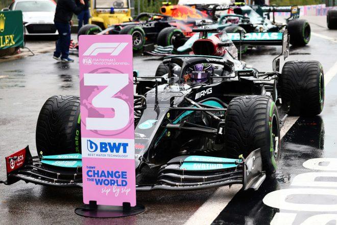 2021年F1第12戦ベルギーGP 予選3番手のルイス・ハミルトン(メルセデス)