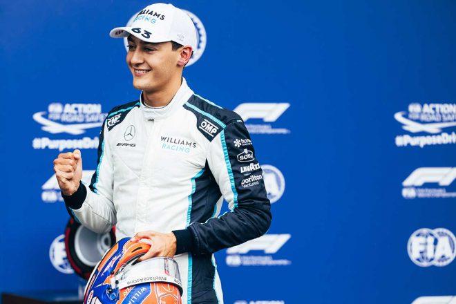 2021年F1第12戦ベルギーGP 予選2番手を獲得したジョージ・ラッセル(ウイリアムズ)