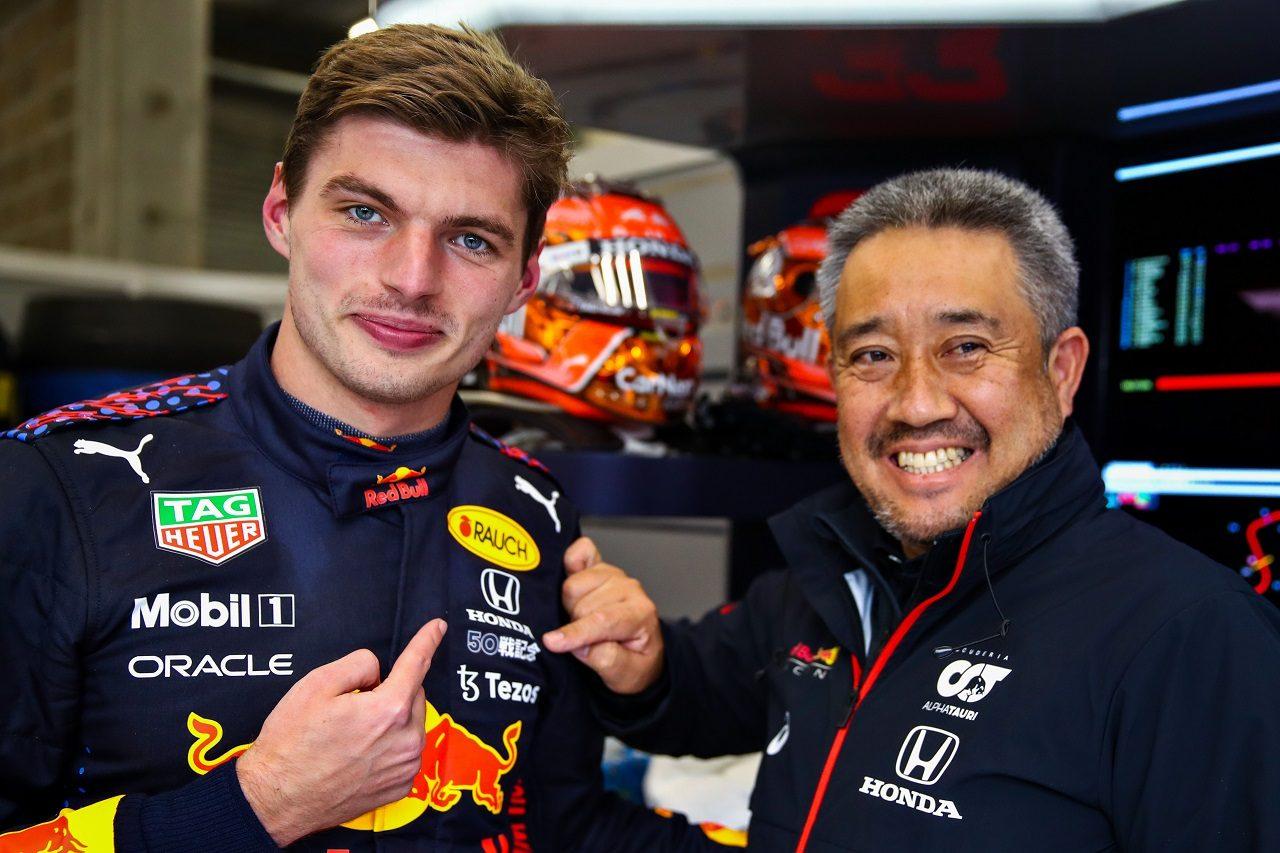 マックス・フェルスタッペン(レッドブル・ホンダ)とホンダF1 山本雅史マネージングディレクター